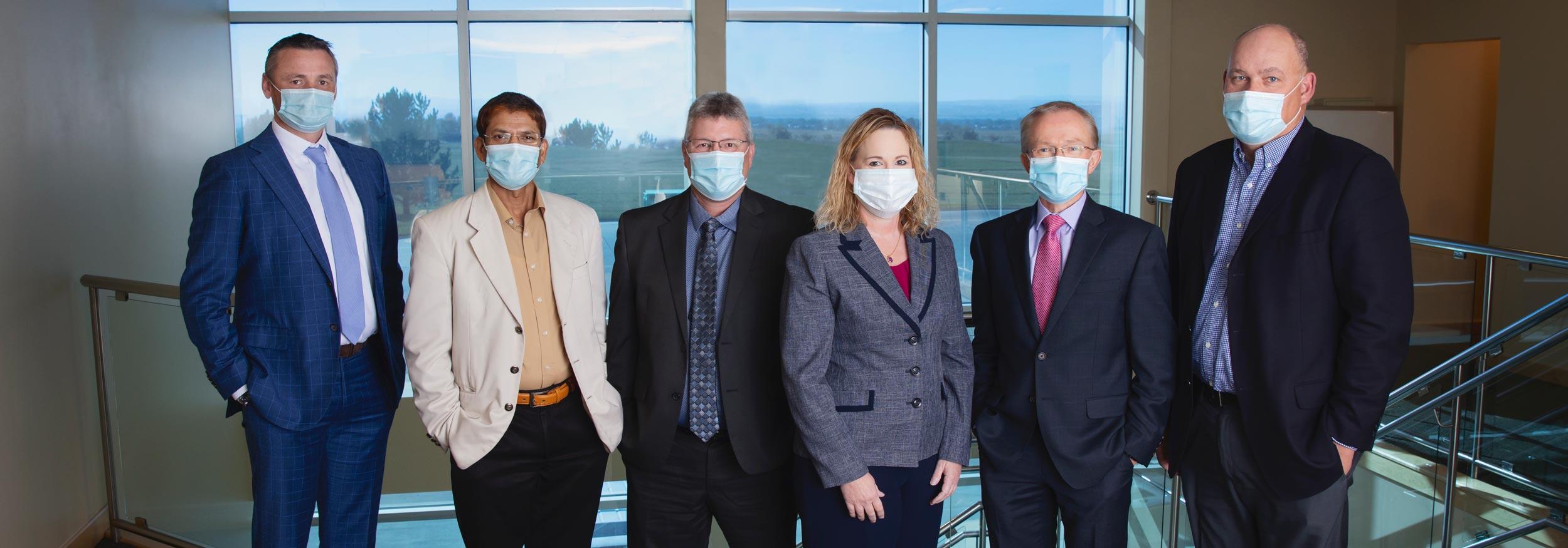 Leadership team in masks