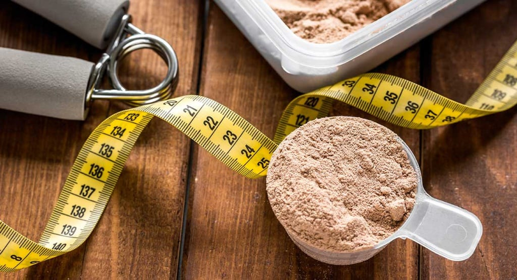 protein for weight loss concept
