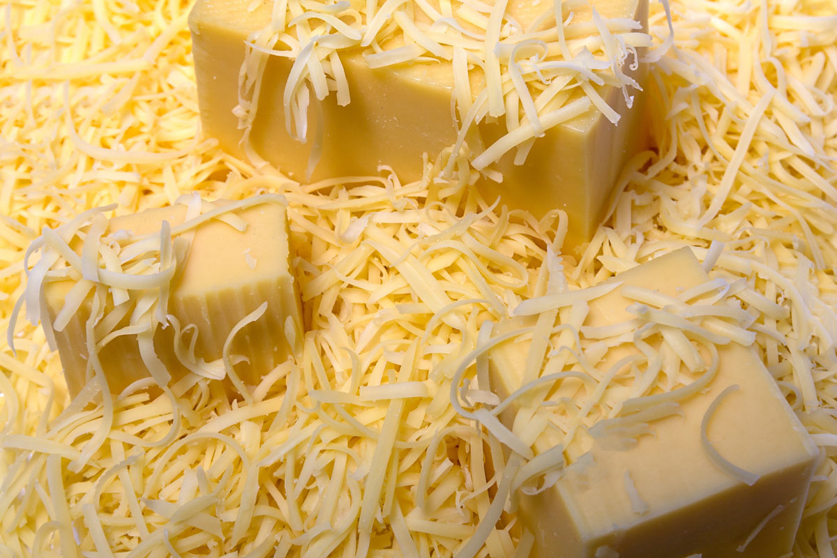 semi-grated cheese